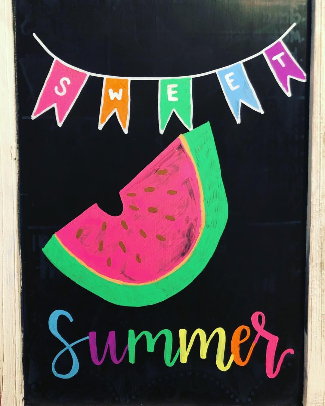 Add a slice of summer into your home with Vibrant chalk ...