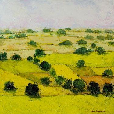 "Saatchi Art Artist Allan P Friedlander; Painting, ""Dusty Meadows"" #art"
