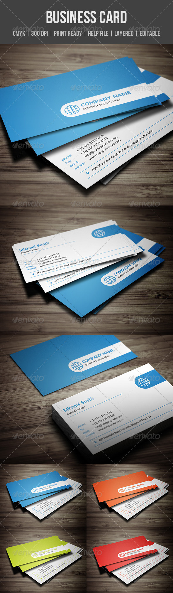 Clean corporate business card corporate business business cards clean corporate business card corporate business cards reheart Images