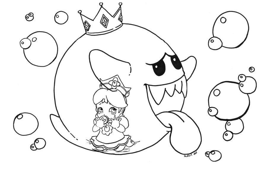 Daisy Trapped In King Boo By Jadedragonne On Deviantart King Boo Coloring Pages Colouring Pages