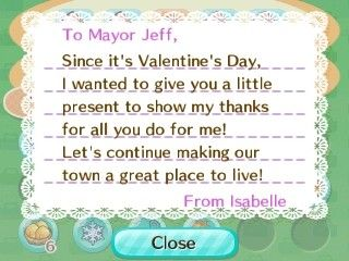 Isabelle sent me some chocolate cake for Valentine's Day. How sweet of her.