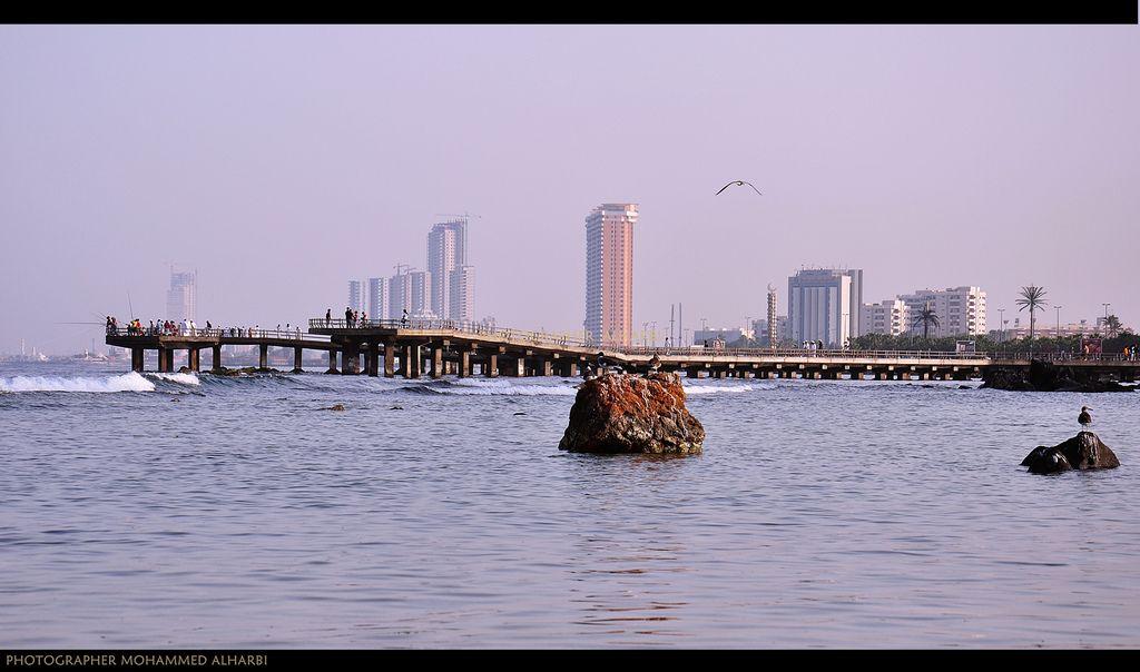 جسر الكورنيش السقالة بلسان أهل جدة و الحجاز Jeddah Skyline New York Skyline