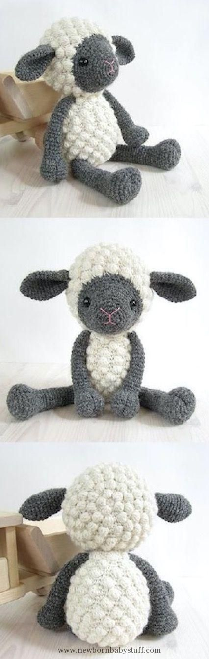 Baby Knitting Patterns Crochet Bobble Sheep Best Collection Of Free ...
