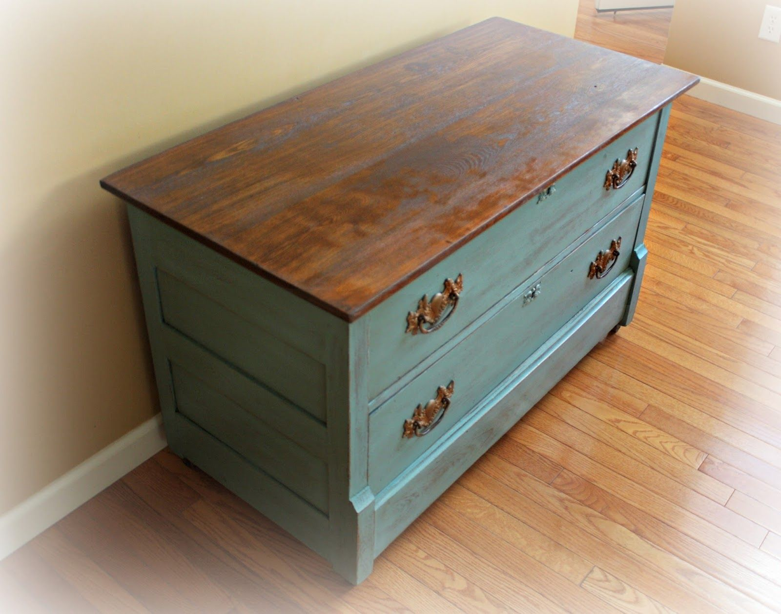 Finished Antique Dresser Painted In Provence Blue Annie Sloan Chalk Paint Paint Furniture Furniture Refinishing Furniture