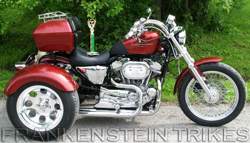 Harley Davidson Sportster Trike Frankenstein Trike Conversion Kit Harley Davidson Trike 2014 Harley