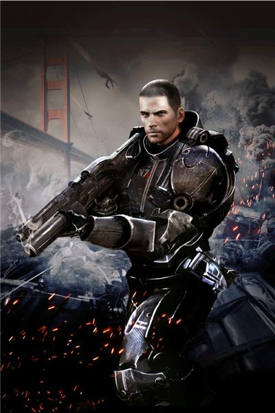 Mass Effect Wall Graphics Commander Shepard Cover Art Ii