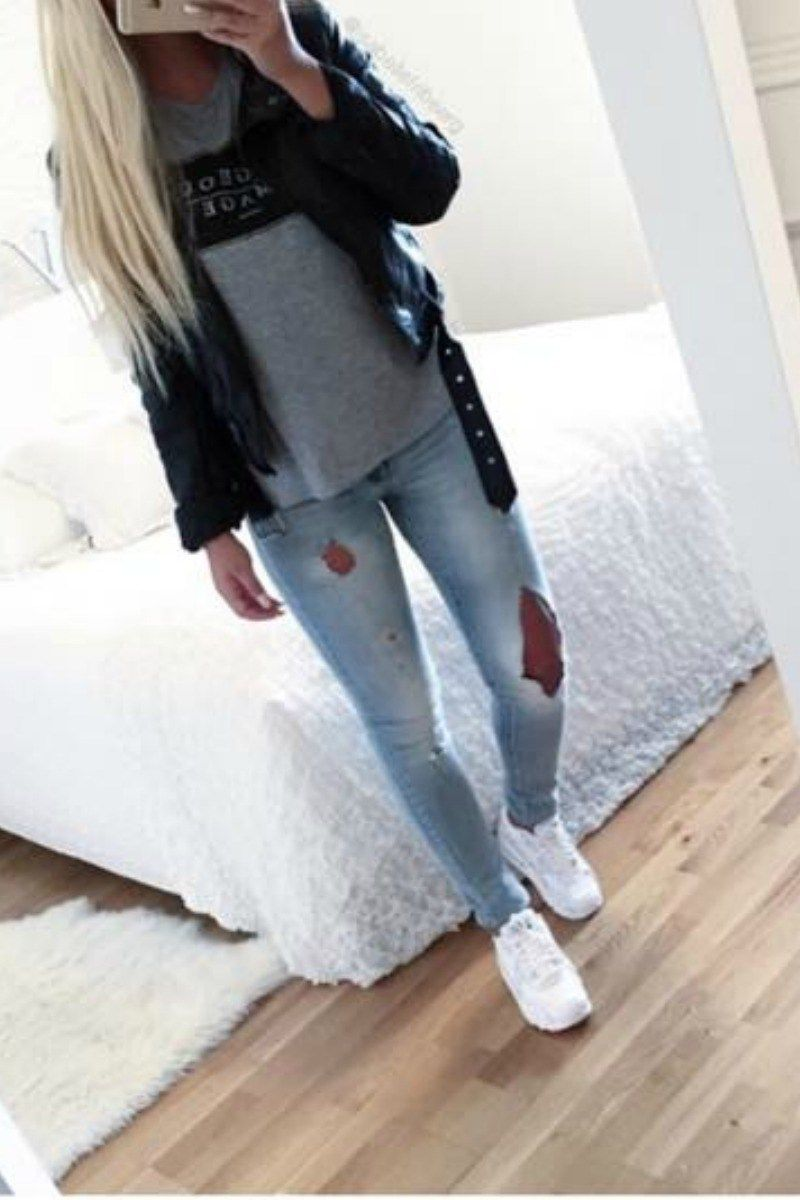 65 Cute Fall Outfits For School You Need To Wear Now -7654