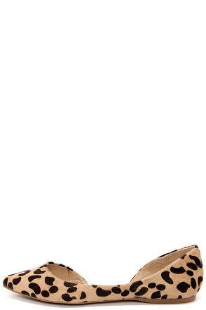 99c36c4a63d Steve Madden Elusion Leopard Pony Fur D'Orsay Flats | Wish List ...