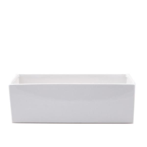 Ceramic Ledge Planter White