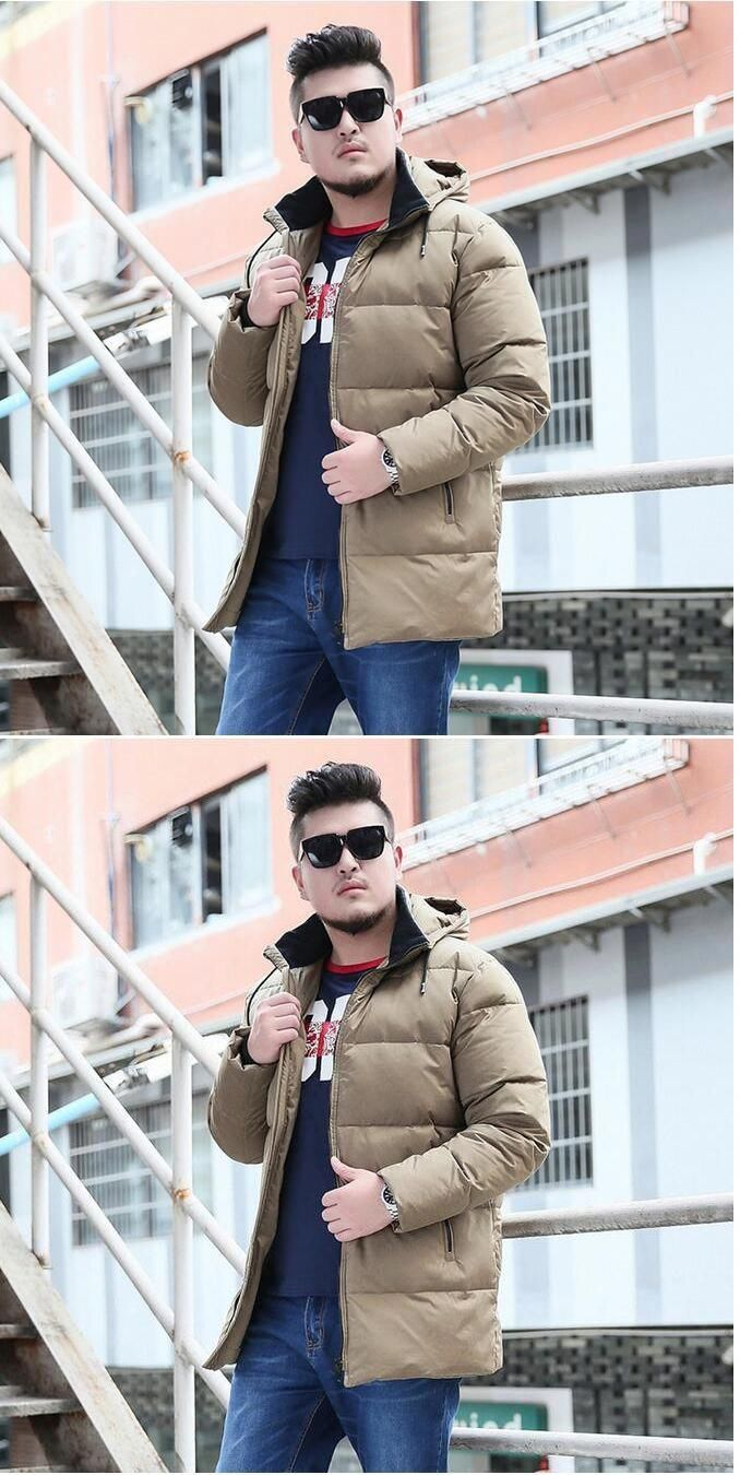 49150cae3b25 Hooded Winter Coat Men s Down Coat Winter Down Jacket For Men Thick  WinterJacket Custom Made Plus