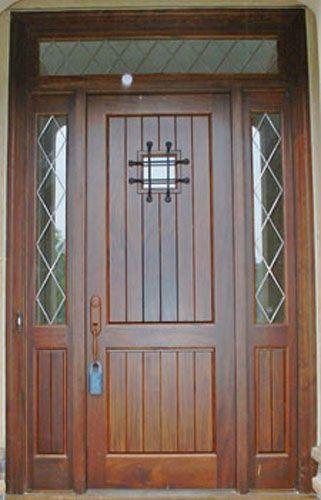 Craftsman Style Wood Door With Speakeasy.