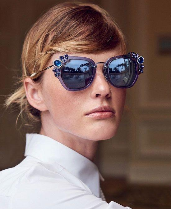 aad0ce091f55 Miu Miu crystal-embellished sunglasses