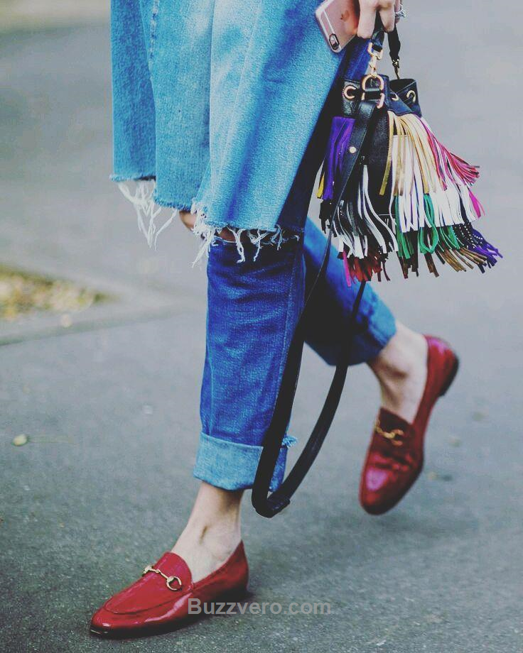 Almost done.... loafers are coming............. see you soon......... 👀.... stay tuned....... #loafers #flats #shoes #sotd #shoesoftheday #flatshoes #Mocassins #slippers #style #fashion #red #jeans #denim #handbag #bag #fringe #news #buzzvero