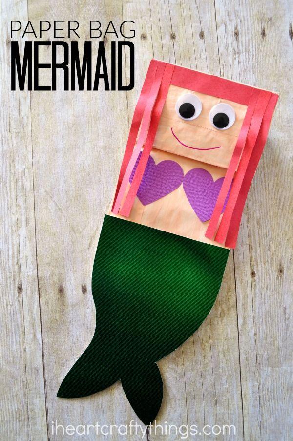 Paper Bag Mermaid Craft For Kids Mermaid Crafts Craft