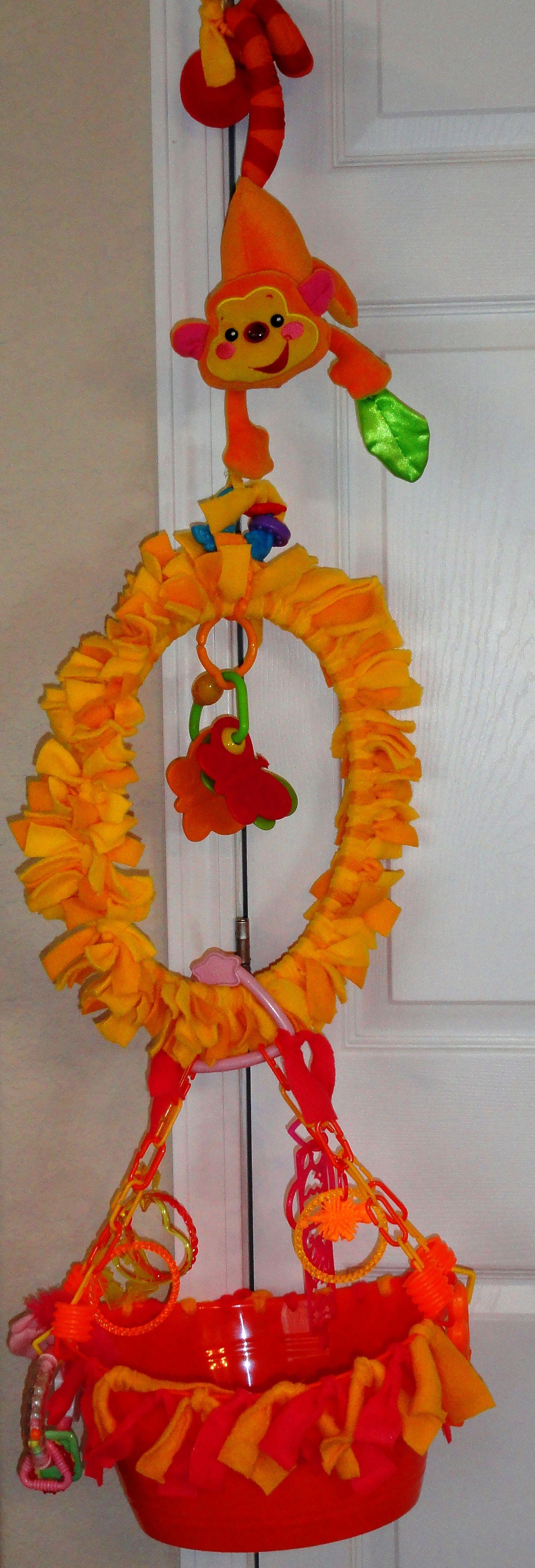 A hoop hanger swing play bucket diy stuffed animals