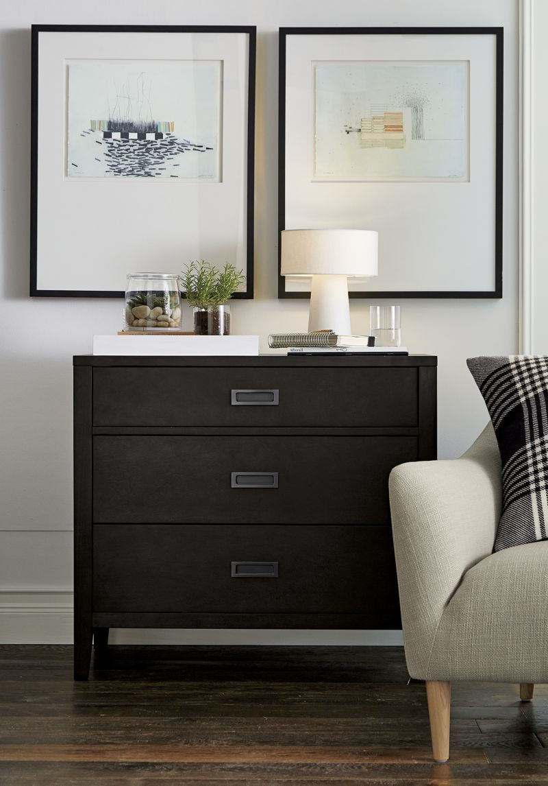 Arch charcoal 3 drawer chest crate and barrel