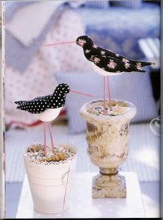 Coleção Tilda - Pássaros com molde