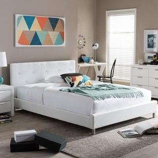 Online Shopping Bedding Furniture Electronics Jewelry Clothing More White Platform Bed Modern Platform Bed Queen Upholstered Bed
