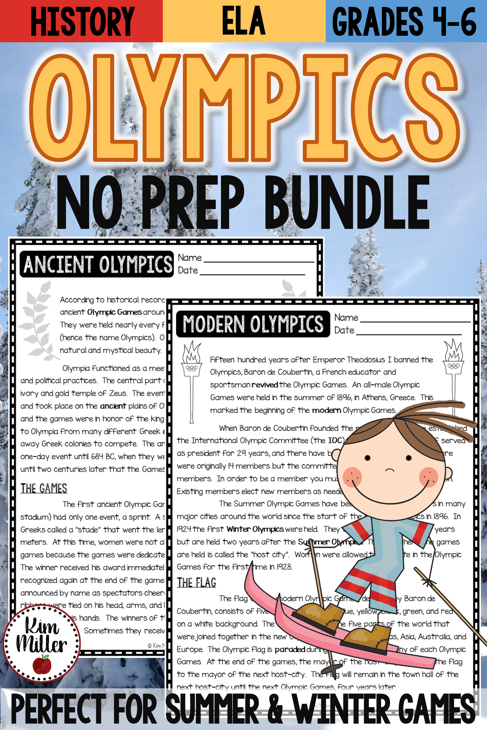 Winter Games Reading Comprehension Passages And