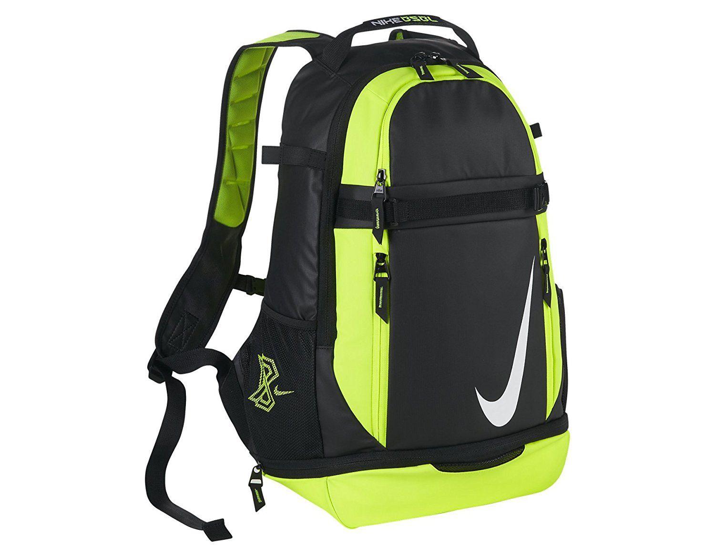 Nike Vapor Elite Baseball Backpack Bag in Black and Volt    Review more  details here   Backpacking backpack 51dfacabaca77