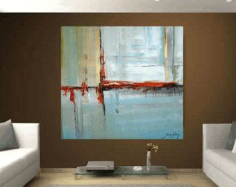 Large Painting Ready To Hang Abstract From Jolina Anthony A Beautifull Art Wall Decor