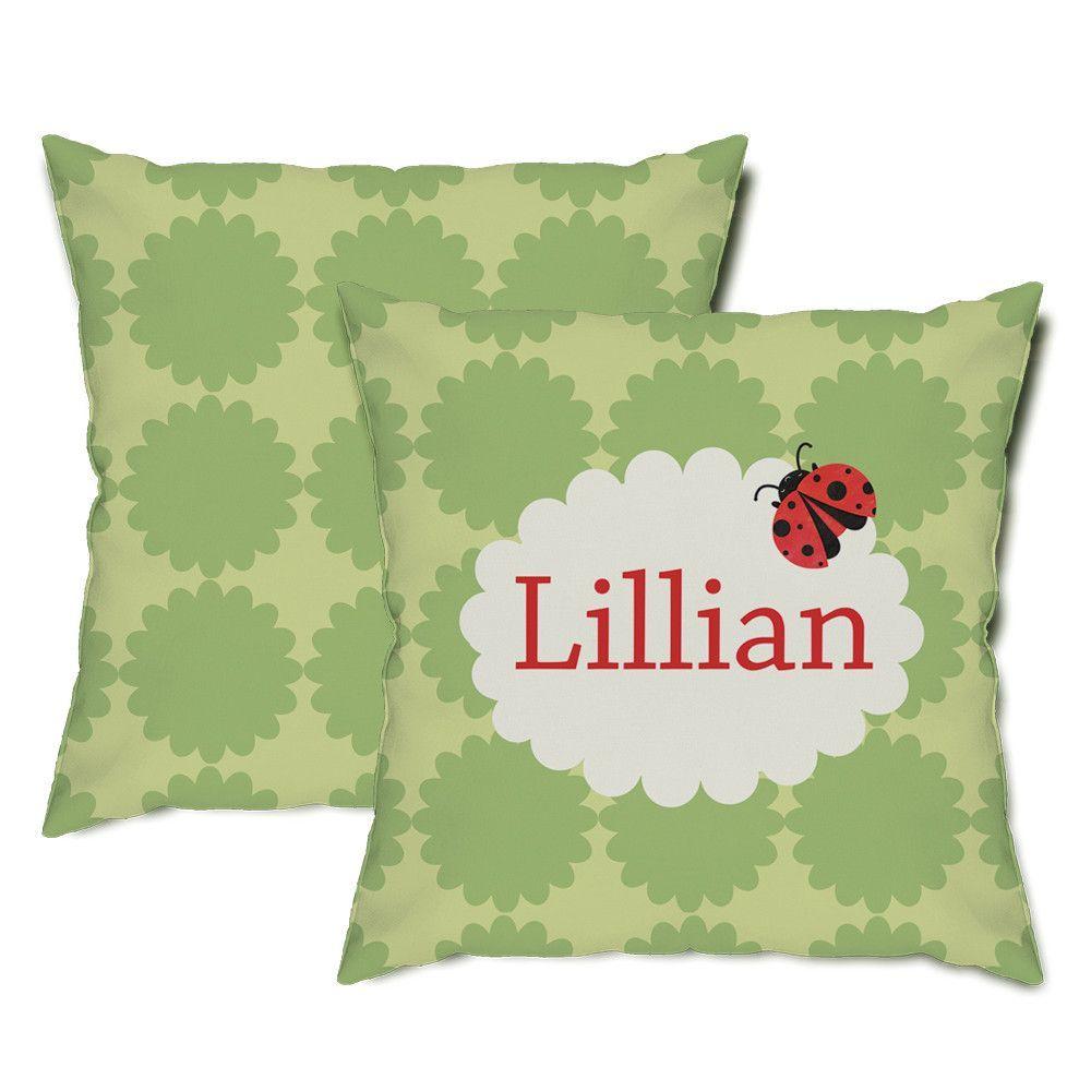 Personalized Ladybug Throw Pillow
