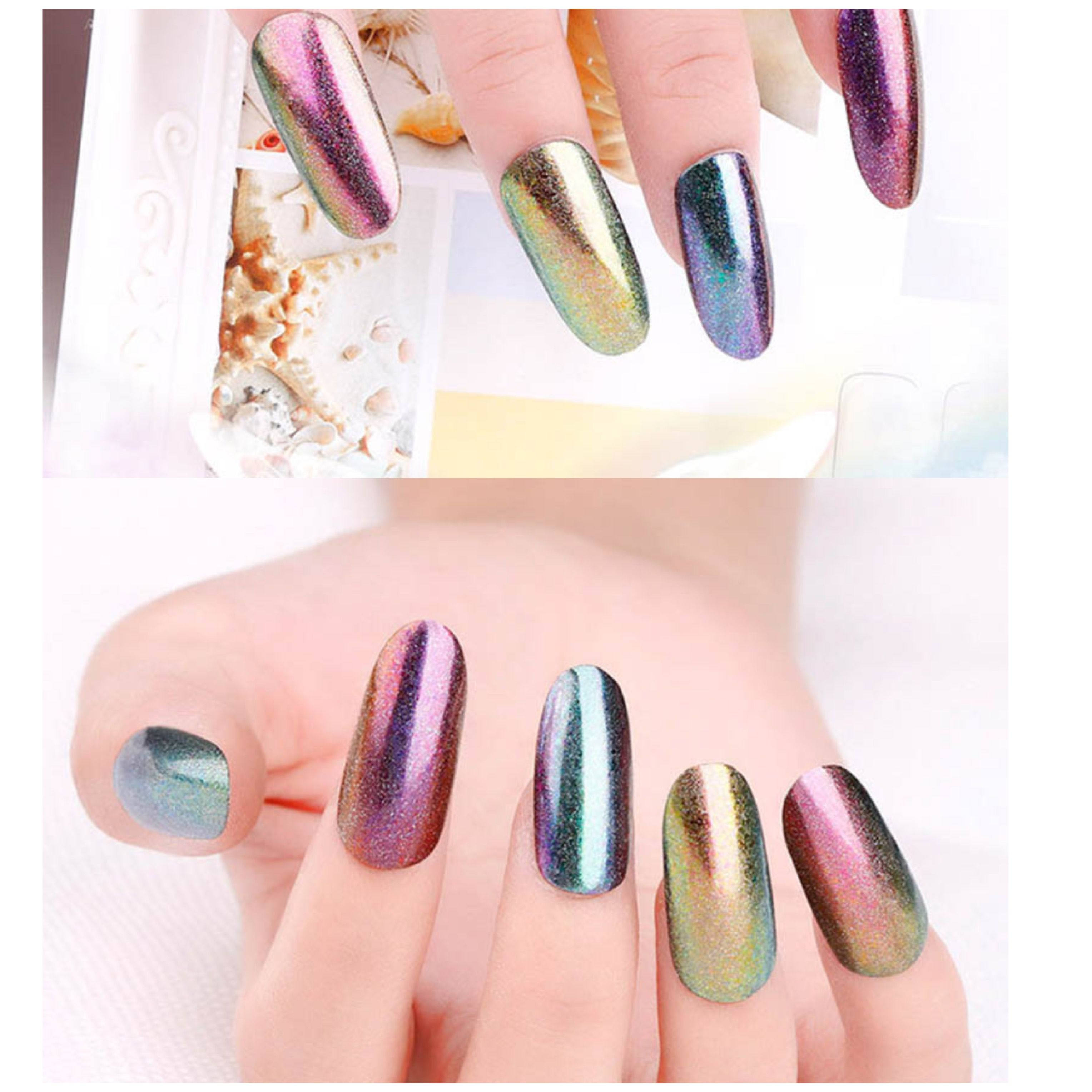 We now provide high quality colour changing mirror chrome nail ...