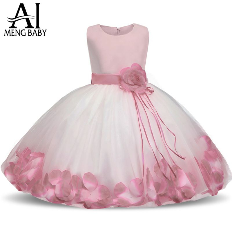 Ai Meng Baby Flower Baby Girl Christening Gown Baptism Clothes Newborn Baby Girl 1 Year Birthday Dress Infant Party Dresses Wear - Kid Shop Global - Kids & Baby Shop Online - baby & kids clothing, toys for baby & kid