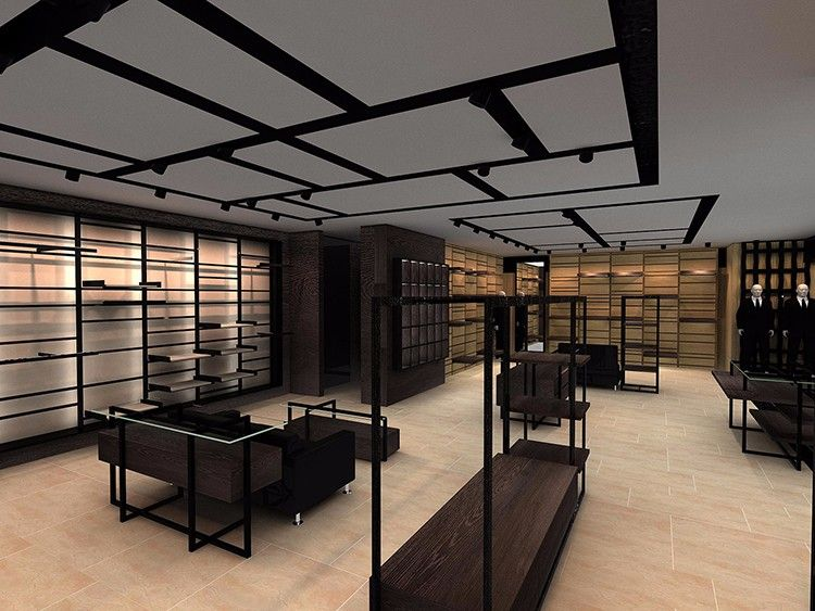 Retail Garment Shop Interior Design Modern Design Cheap Clothes