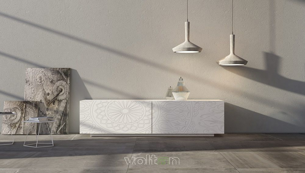 Credenza Moderna Di Design : Credenza moderna bianca di design modello larghezza cm