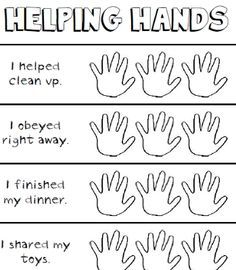 this page was sent home children can color a hand as they help others during the week - Helping Hands Coloring Page