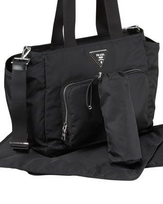 f7d7d310a768 Prada Baby Bag, Black (Nero) | Cute Ideas for Babies | Designer baby ...