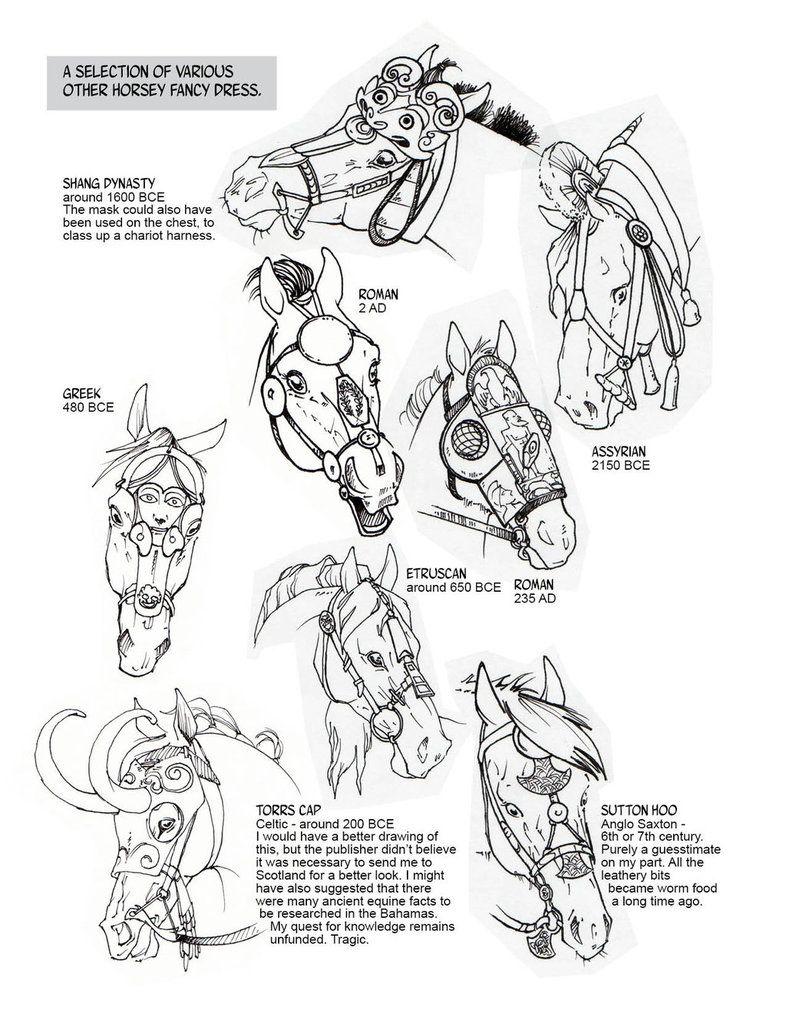 Historic Horse Head Gear Part 2 by sketcherjak on