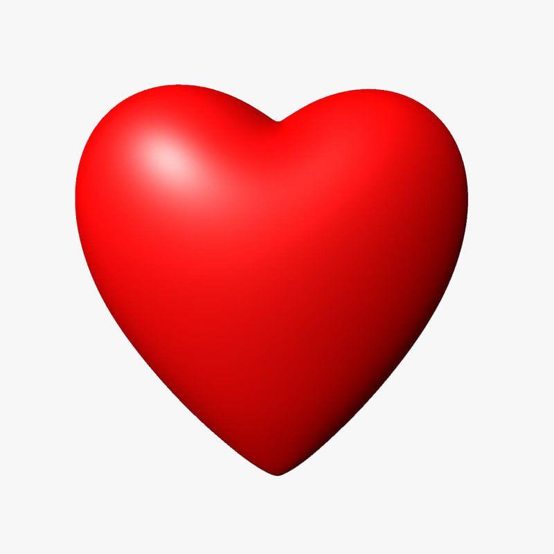 Valentine Heart 3d Model Fotos Molduras Emojis