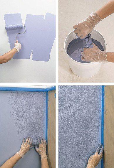 Необычная покраска стен своими руками 59