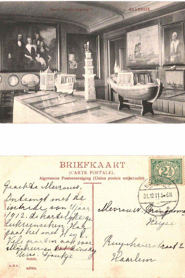 1911 Zaandijk Zaanlandsche Oudheidkamer