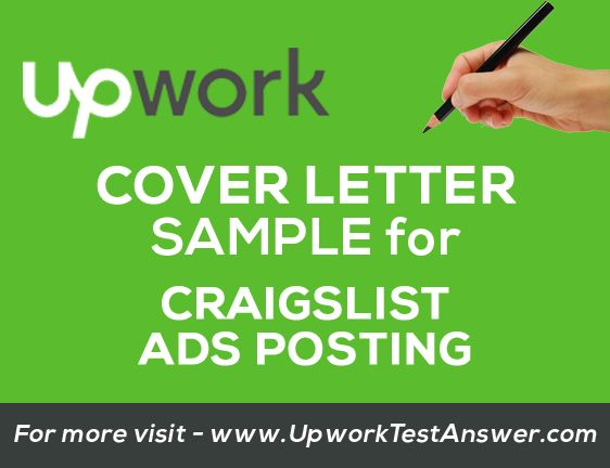 Pin by Upwork Test on Upwork Test Answers | Job cover letter ...