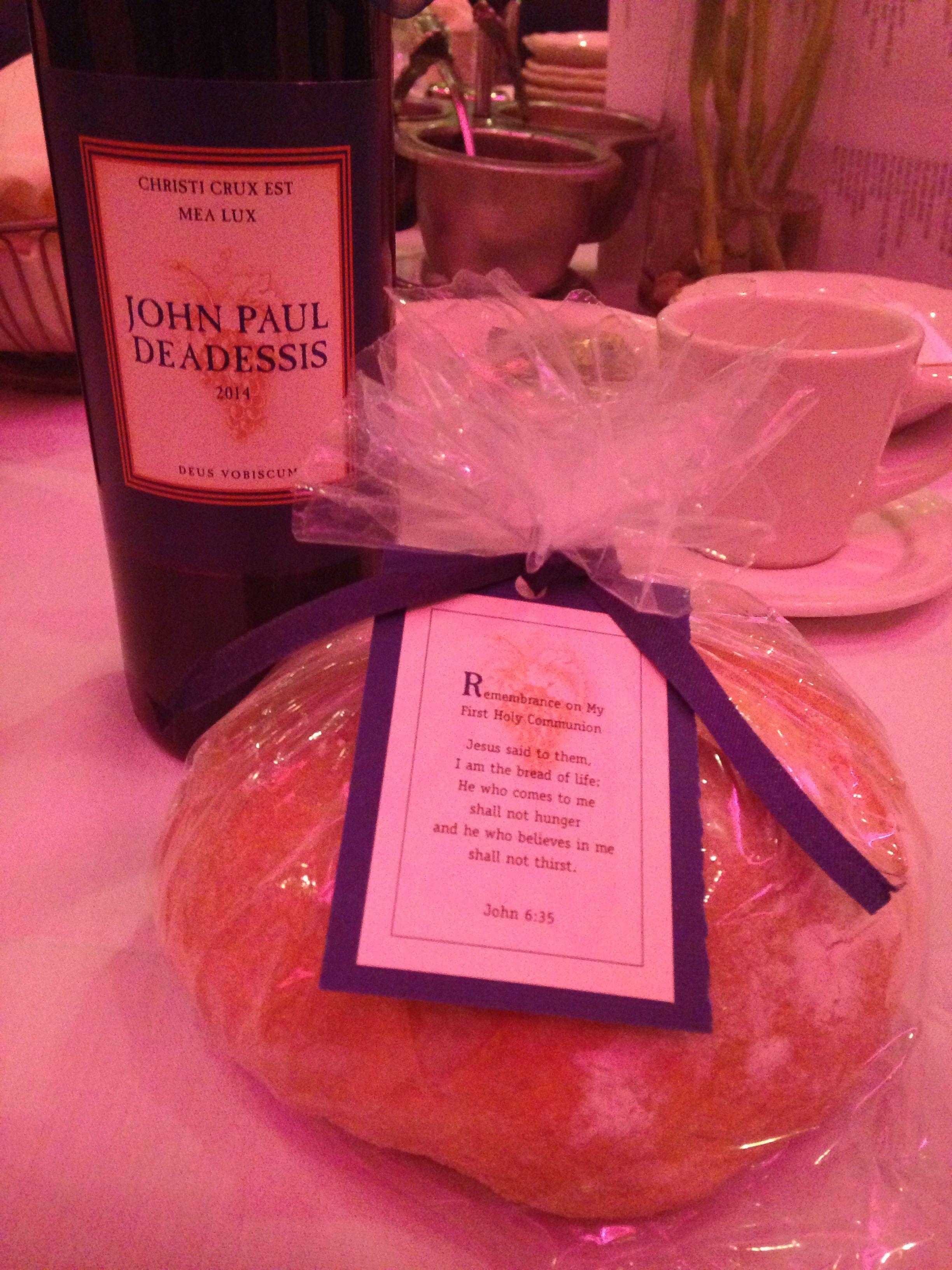 munion Favors Bread & Wine Rosie Sweet Heart