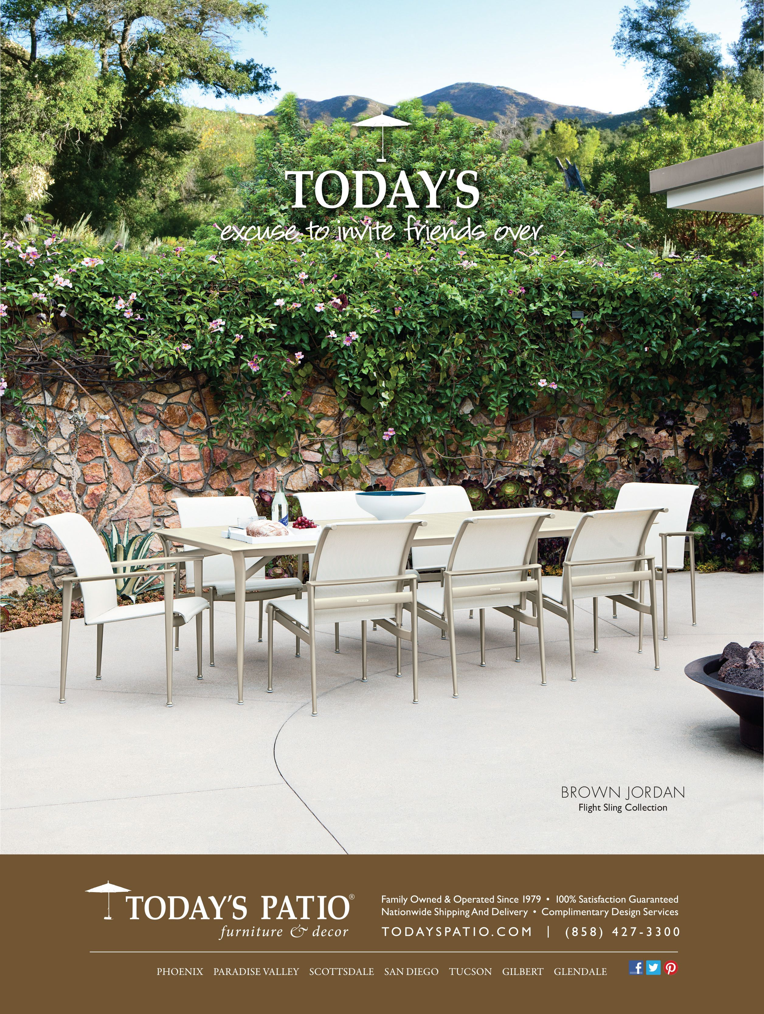 Brown Jordan Flight Sling Collection Today S Patio Magazine Ad Patio Furniture Collection Outdoor Patio Couch Modern Outdoor Patio