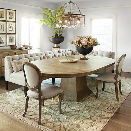 Leighton 54 Oval Extension Pedestal Dining Table In