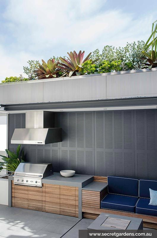 The built in bbq and retractable ceiling H o m e Pinterest