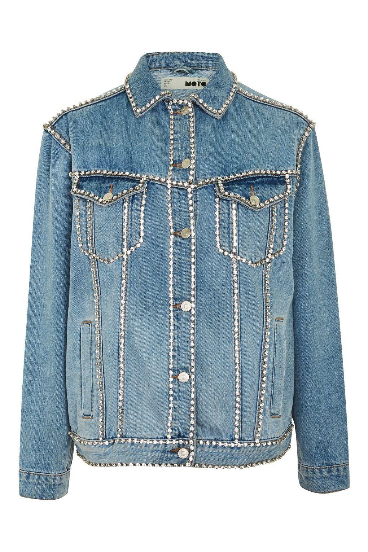 41483fae9d3 MOTO Crystal Seam Denim Jacket - Topshop Europe Cocktail Jacket, Blue Jean  Jacket, Outerwear