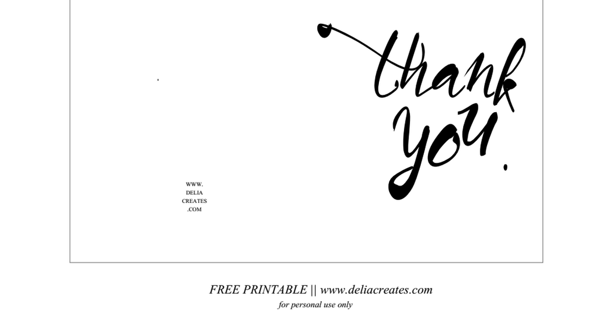 Thank You Card 2 Pdf Thank You Cards Thank You Card Template Free Printable Cards