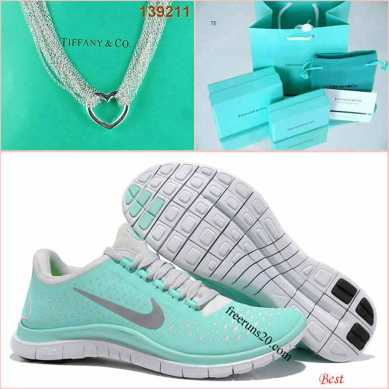 3c17bb2b7613 Nike Free 3.0 V4 Tiffany Blue Silver Love Tiffany   CO Necklace ...