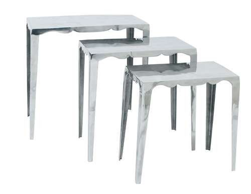 Elegantly Designed Metal Accent Table - Set of 3 Modern Free Shipping Brand New