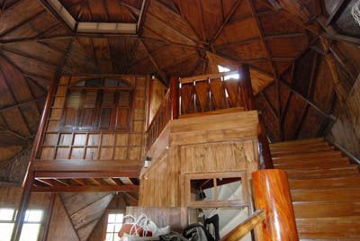 Geodesic dome home interior