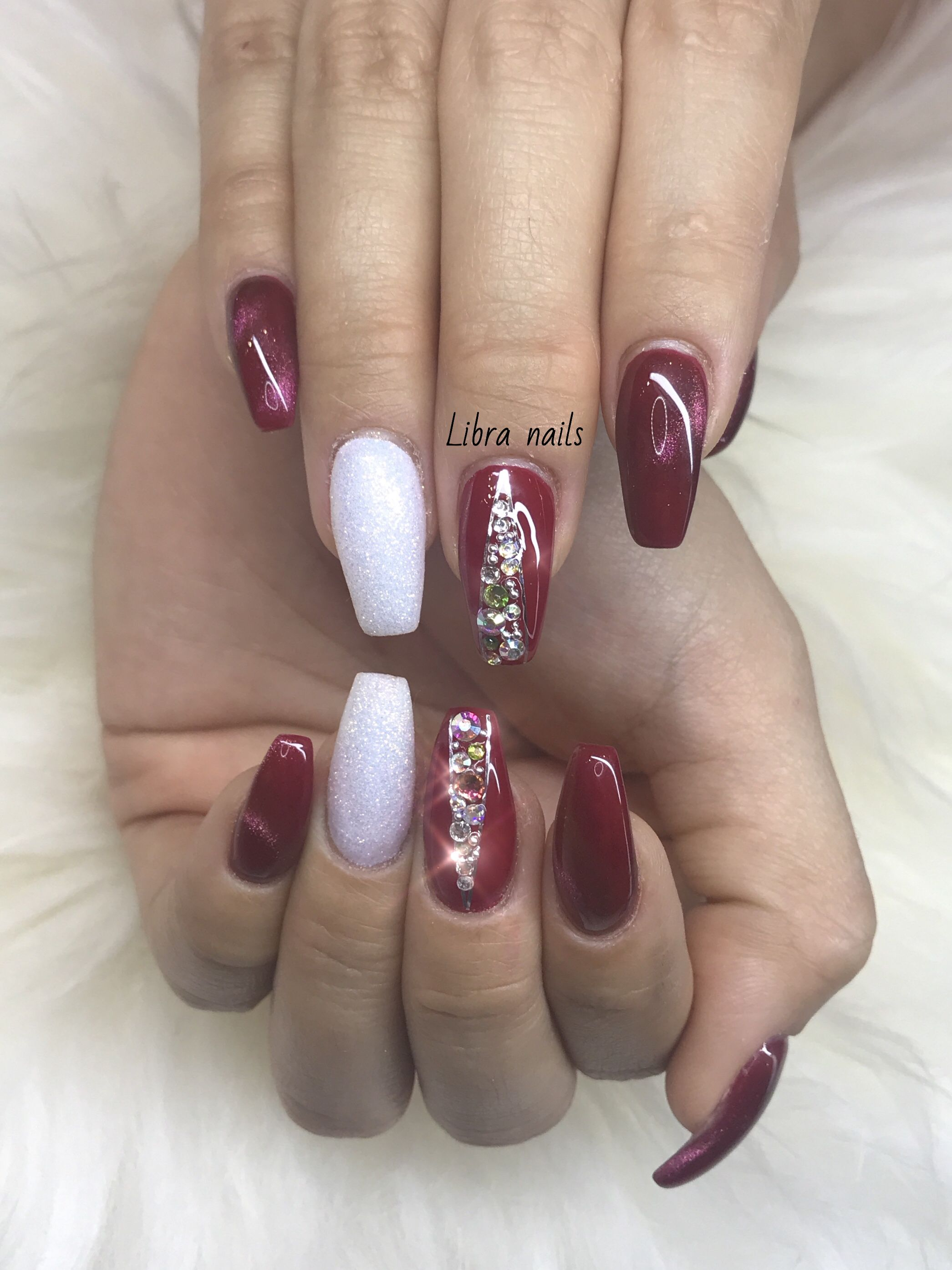 Pin by Melissa Rose on nail designs | Pinterest | Wine nails, Red ...