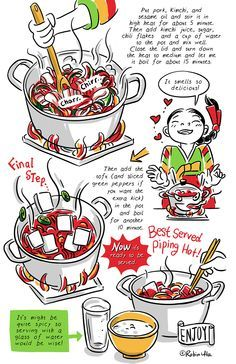 Image result for cook korean a comic book with recipes korean english recipes forumfinder Image collections