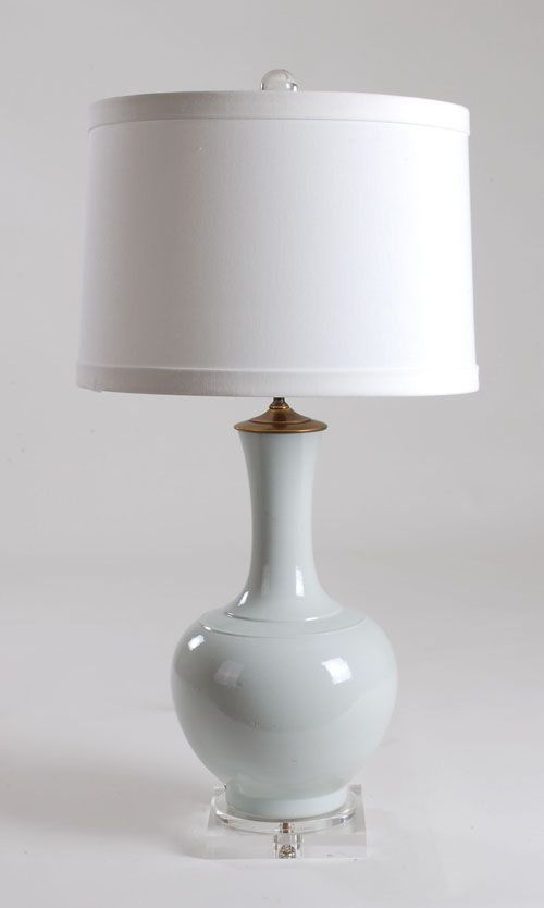 Beautiful White Gourd Vase Lamp: Avala And Summerour Lamps