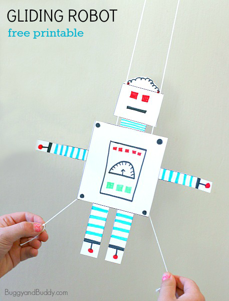 Stem Activity For Kids Free Printable Gliding Robot Science